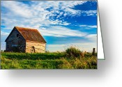 Shed Greeting Cards - Little Shed on the Prairie Greeting Card by Matt Dobson