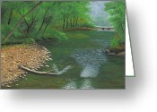 Washington Pastels Greeting Cards - Little Shoal Creek Greeting Card by Garry McMichael