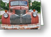 Firetruck Greeting Cards - Little Squirt 15371 Greeting Card by Guy Whiteley