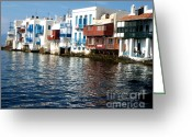 Mediterranian Greeting Cards - Little Venice Greeting Card by Rebecca Margraf
