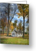 Spritual Greeting Cards - Little White Chapel Greeting Card by Pamela Baker