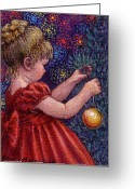 Occupy Greeting Cards - Little Winter Girl Greeting Card by Jane Bucci
