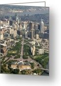 Philadelphia Greeting Cards - Live 8 Concert Philadelphia Ben Franklin Parkway 2 Greeting Card by Duncan Pearson