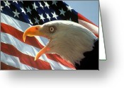Flag Photo Greeting Cards - Live Free or Die Greeting Card by Carl Purcell