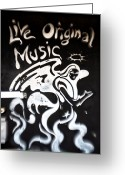 Unique Door Greeting Cards - Live Original Music Greeting Card by John Rizzuto