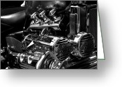 V Twin Greeting Cards - Live to Ride Greeting Card by Michelle Calkins