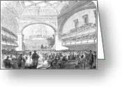 Philharmonic Greeting Cards - Liverpool: Concert Hall Greeting Card by Granger