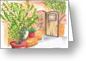 California Landscapes Greeting Cards - Living-Desert-Botanical-Garden Greeting Card by Carlos G Groppa