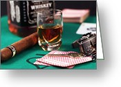 Jack Daniels Greeting Cards - Living Large Greeting Card by John Rizzuto