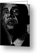 President Obama Greeting Cards - Living the Dream Greeting Card by Maria Arango