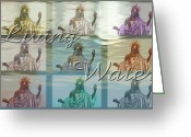 Terry Digital Art Greeting Cards - Living Water 2 Greeting Card by Terry Wallace