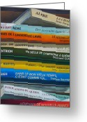 Books Greeting Cards - Livres ... Greeting Card by Juergen Weiss