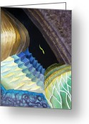 Bedroom Art Greeting Cards - Lizard Skin Abstract II Greeting Card by Irina Sztukowski