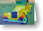 Buggy Greeting Cards - Lizzie Model T Greeting Card by Evie Cook
