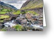 Farm Digital Art Greeting Cards - Llanberis Pass Greeting Card by Adrian Evans