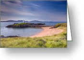 Lighthouse Greeting Cards - Llanddwyn Beacon Greeting Card by Adrian Evans