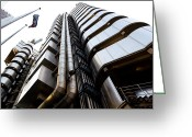 Art Of Building Greeting Cards - Lloyds Building London  Greeting Card by David Pyatt