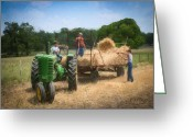 At Work Greeting Cards - Loading the wheat    3204 Greeting Card by Fritz Ozuna