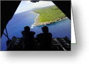 The Edge Greeting Cards - Loadmasters Look Out Over Tumon Bay Greeting Card by Stocktrek Images