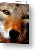 Smudgeart Greeting Cards - Lobo Greeting Card by Madeline M Allen