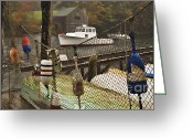 Shack Greeting Cards - Lobster Buoys at New Harbor - D000349a Greeting Card by Daniel Dempster