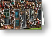 Harbor Living Greeting Cards - Lobster House Greeting Card by Brenda Giasson