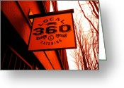 Life In The City Greeting Cards - Local 360 In Orange Greeting Card by Kym Backland