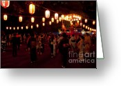 Night Time Greeting Cards - Local Festival Greeting Card by Andy Smy