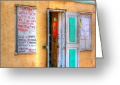 Market Greeting Cards - Local Store Greeting Card by Debbi Granruth