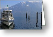 Mountain View Greeting Cards - Locarno Greeting Card by Joana Kruse