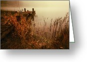 Colour Image Greeting Cards - Loch Ard early mist  Greeting Card by John Farnan