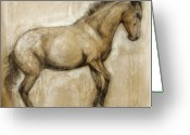Horse Art Greeting Cards - Lock and Load Greeting Card by Mary Leslie