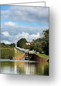 Gates Greeting Cards - Lock gates Greeting Card by Jane Rix