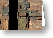 Old Lock Greeting Cards - Lock of church. France Greeting Card by Bernard Jaubert