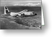 C130 Greeting Cards - Lockheed C-130 Hercules Greeting Card by Omikron