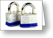 Secrecy Greeting Cards - Locks Greeting Card by Blink Images