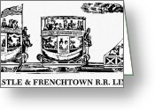 1833 Greeting Cards - Locomotive, 1833 Greeting Card by Granger