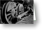 Wheels Greeting Cards - Locomotive Greeting Card by Joe Bonita