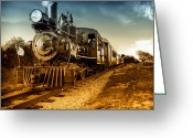 Railroad Tracks Greeting Cards - Locomotive Number 4 Greeting Card by Bob Orsillo