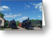 Baraboo Greeting Cards - Locomotives Greeting Card by Charles Robinson