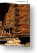 Business Decor Greeting Cards - Log Cabin Greeting Card by Robert Frederick