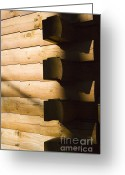 Log House Greeting Cards - Log House Greeting Card by Juan  Silva