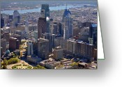 Logan Circle Greeting Cards - Logan Center City Philadelphia Greeting Card by Duncan Pearson