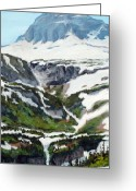 Montana Digital Art Greeting Cards - Logan Pass Greeting Card by Mary Giacomini