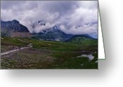 Glacier Greeting Cards - Logans Pass Greeting Card by Christopher Lugenbeal