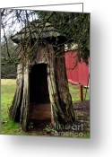 Clayton Photo Greeting Cards - Loggers Outhouse Greeting Card by Clayton Bruster