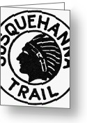 Cities Greeting Cards - Logo: Susquehanna Trail Greeting Card by Granger