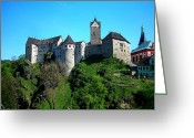 12th Century Greeting Cards - Loket Castle  Greeting Card by Juergen Weiss