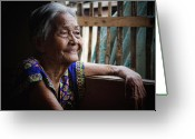 Older Woman Photo Greeting Cards - Lola Greeting Card by James Bo Insogna