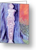 Stone Pastels Greeting Cards - Lola Lady Of Stone Greeting Card by Jan Amiss